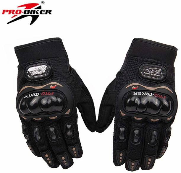Probiker Synthetic Lather Motorcycle Full Hand Gloves (Blue- 1Pair) Driving Gloves