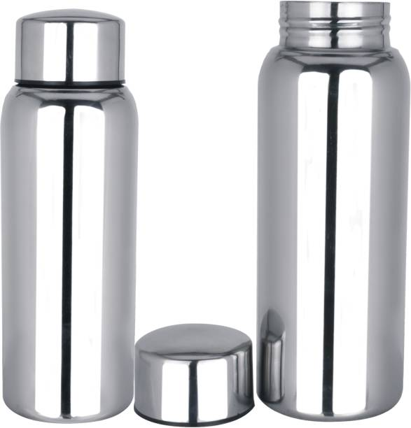 Apeiron Stainless Steel jointless Water Bottle Silver 500 ml Bottle