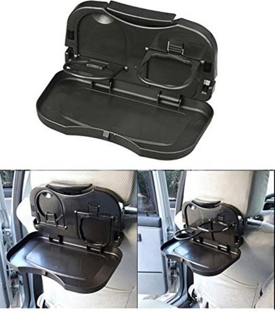 Flipco Mini Car Backseat Food Tray with Bottle Cup Holder 1 Pcs Car Bottle Holder