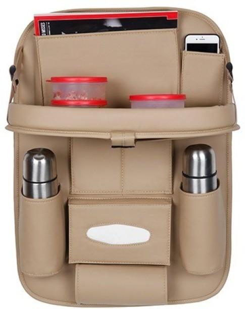 W4-moto Car Backseat Organizer Muti-Pocket Back Seat Storage Bag Car Seat Back Protector Travel Accessories