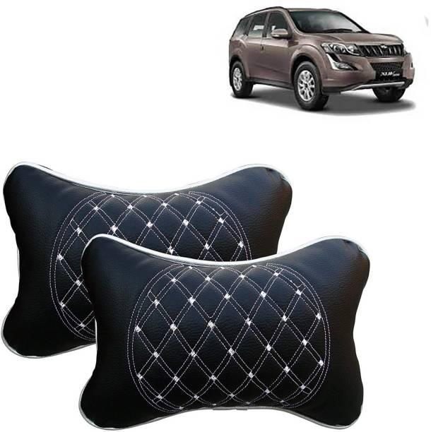 VOCADO Black, White Leatherite Car Pillow Cushion for Universal For Car