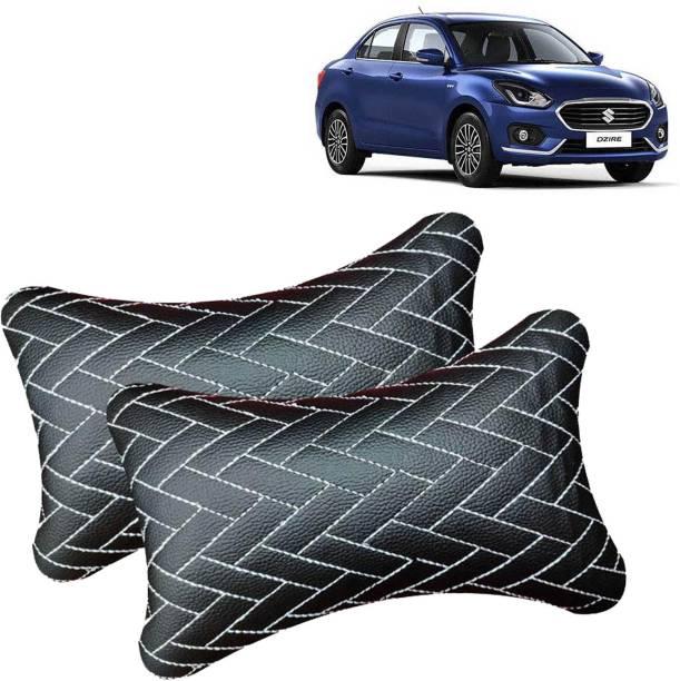 aksmit Black Leatherite Car Pillow Cushion for Maruti Suzuki
