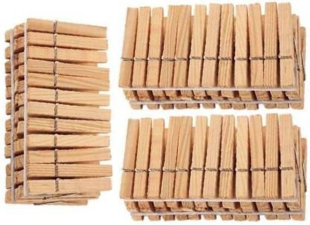 Adhunik Rasoi Cloth Clip Standard Size Wood Cloth Clip