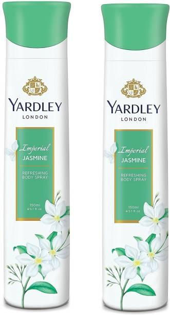 Yardley London Imperial Jasmine 150ML Each (Pack of 2) Body Spray  -  For Women