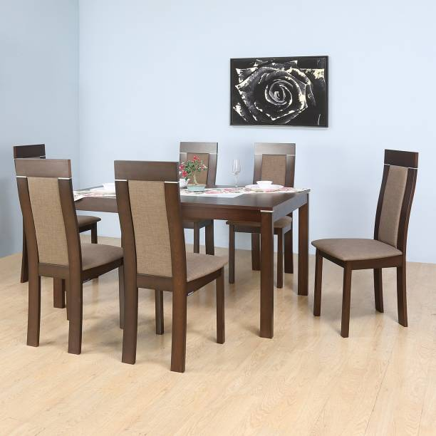 Nilkamal Zabel Engineered Wood 6 Seater Dining Set