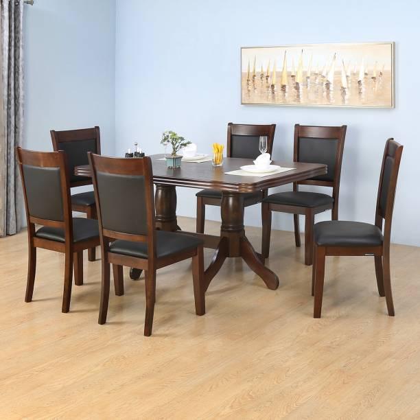 Nilkamal Norris Solid Wood 6 Seater Dining Set
