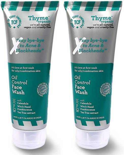 Thyme Organic Oil Control  - Controls Acne & Pimples- Toxic Chemical Free Face Wash