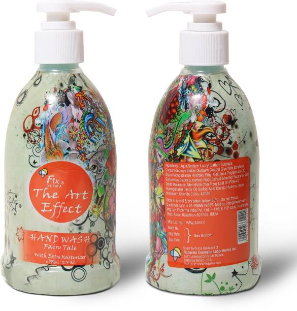 Fixderma The Art Effect (Fairy Tale) Moisturising Hand Wash -300 ml Hand Wash Pump Dispenser