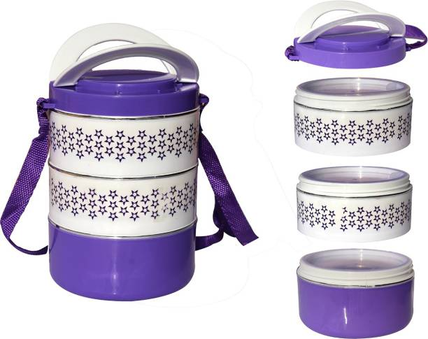 WHITEIBIS Lunch box 3 Containers Lunch Box