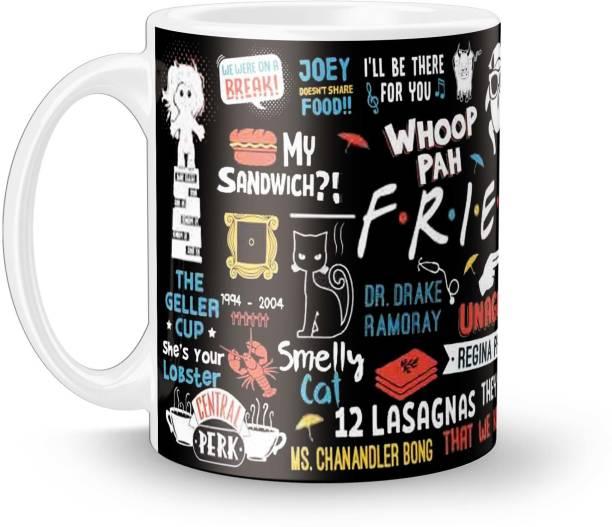 ECFAK Friend Doodle Ceramic Coffee Mug