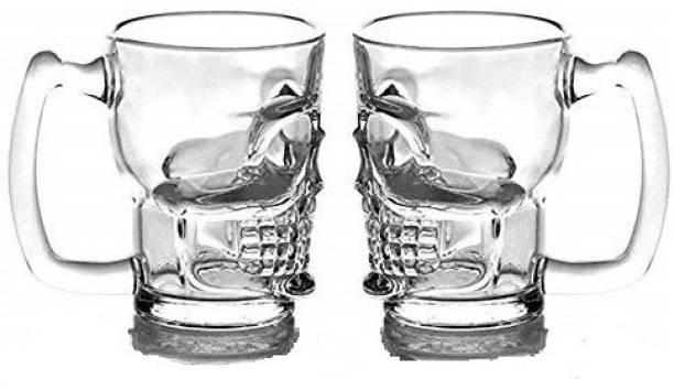 MIR Skull 450ML for Your Home Bar. Glass Beer Mug