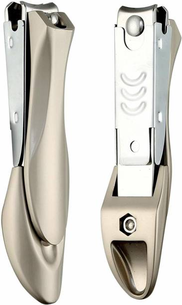 Beauté Secrets Nail Cutter Clippers With Curved Nail File, Fingernail and Toenail Clipper Cutter, Stainless Steel Nail Trimmer Korean Design
