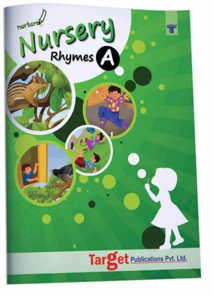 Nurture English Popular Nursery Rhymes Book For Kids | Part A | 2 To 5 Year Old Babies | Short Poems With Colourful Pictures For Preschool And Kindergarten Children | 26 LKG And UKG Rhymes