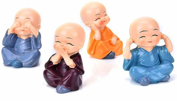 unicorn shoppe Monks Buddha Figurines Decorative Showpiece  -  4 cm