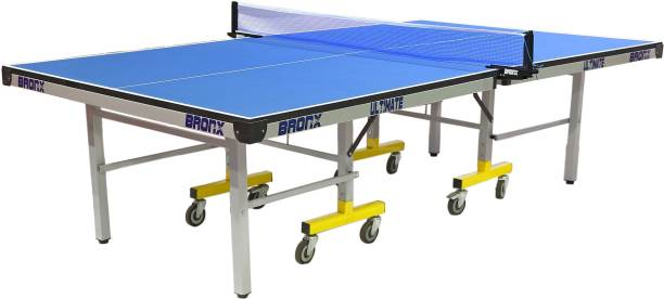 Bronx Ultimate Full Size 18 mm Both Side Laminated top with 100 mm 6+2 Stopper Wheel Rollaway Indoor Table Tennis Table