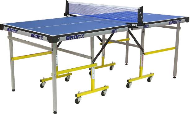 Bronx Mini 6 x 3 ft 18 mm Both Side Laminated top with 50 mm Wheel Rollaway Indoor Table Tennis Table