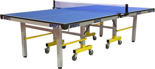 Bronx Advance Full Size 25 mm Both Side Laminated top with 100 mm 6+2 Stopper Wheel Rollaway Indoor Table Tennis Table