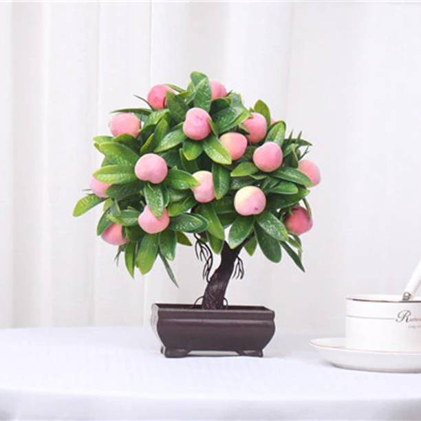 TIED RIBBONS Decorative Showpiece for indoor Home Bedroom Office Table Bonsai Artificial Plant  with Pot