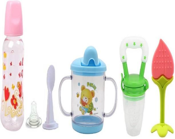 Manan Shopee Baby Feeding Starter Kit For Babies- Multicolor