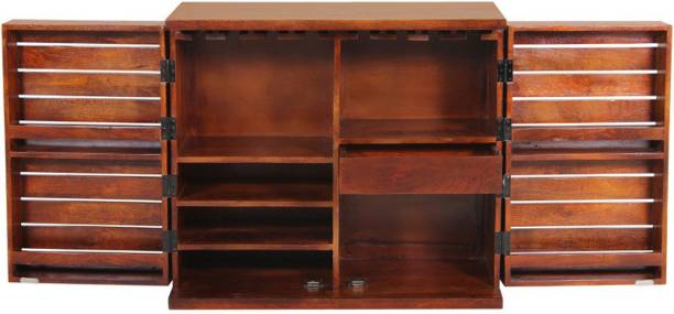 THE ATTIC Solid Wood Bar Cabinet