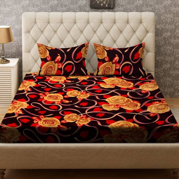 Bombay Dyeing 136 TC Polyester Double Floral Bedsheet