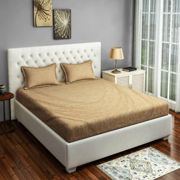 SWAYAM 250 TC Cotton Double Geometric Bedsheet