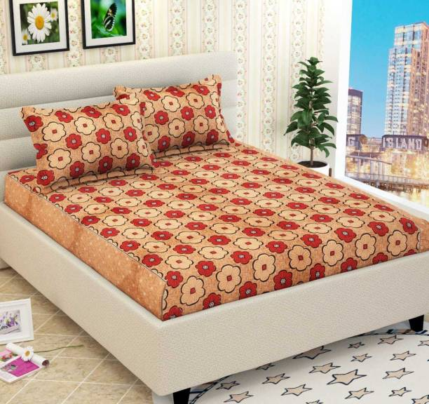 FRAMSTER 140 TC Polycotton Double Floral Bedsheet
