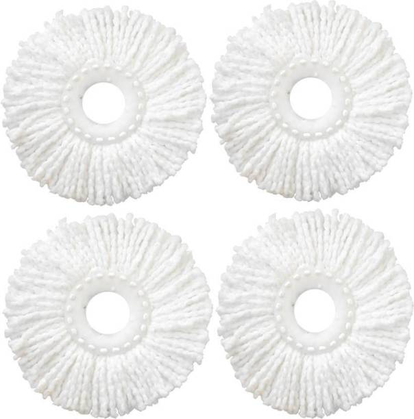 Pigeon Microfiber Spin Mop Refill (White, Pack of 4)Mop refill Refill