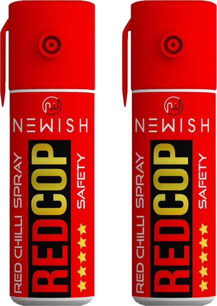 NEWISH : Powerful Red chilli Pepper Spray Self Defence for Women Pack Of 2 Each (55 ml |35 gm|50 shots) Upto -15 Feet Pepper Stream Spray