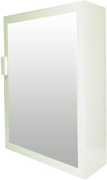WINACO New Payal Off White Bathroom Cabinet Fully Recessed Medicine Cabinet