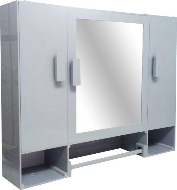 WINACO Diplomat Grey Bathroom Cabinet Fully Recessed Medicine Cabinet