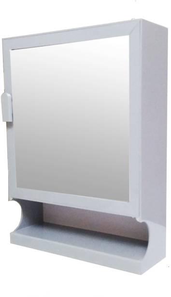 WINACO Safari Grey Bathroom Cabinet Fully Recessed Medicine Cabinet