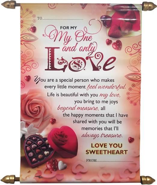 Natali Traders Love Scroll Card Greeting Card