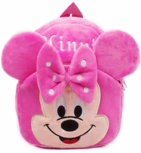 ForChild School Bag For Kids Soft Plush Backpack For Small Kids Nursery Bag Kids Gift (Age 2 to 6 Years) (Nursery/Play School) Plush Bag (Pink, 10 L) School Bag (Pink, 10 L) Pink Minnie ARJ School Bag (Pink, 10 L) 10 L Backpack