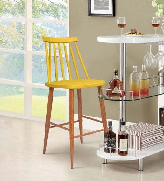 Finch Fox Scandinavian Chairs Trouville Rouge Stylish & Modern Furniture Plastic Chairs for Bar Stool (YELLOW) Engineered Wood Bar Chair
