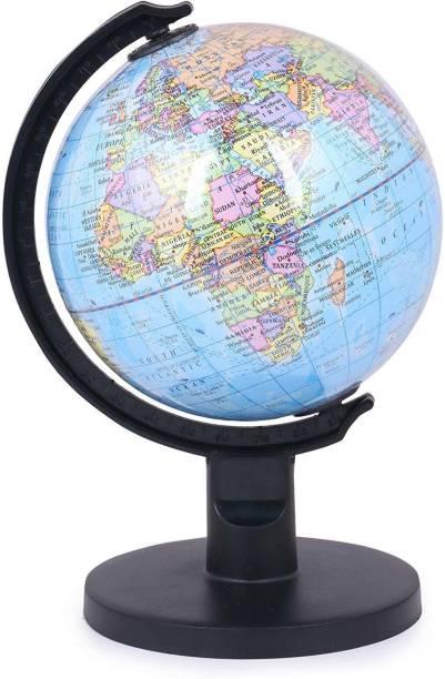 GeoKraft Educational Premium Quality Globe Desk and Table Top Political World Globe