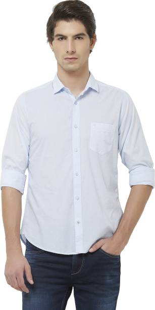 KILLER Men Solid Casual Light Blue Shirt