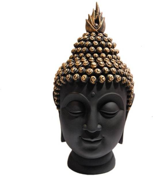 Astrodidi Lord Gautam Buddha Head Face Statue For Vastu Fangshui Brings Health, Peace, Success & Happiness in Home, Office, Factory and Shop Decorative Religious Showpiece. Decorative Showpiece  -  15 cm