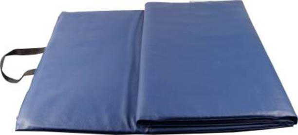 Fitness Guru Anti Skid PU Leather Extra Thick Large Fitness/Yoga Mat with Carrying Strap Blue 13 mm Exercise & Gym Mat