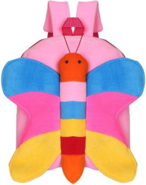 LEDZZ Pink Butterfly Stuffed Toy Bag for Kids  - 40 cm