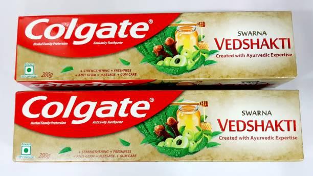 Colgate Swarna Vedshakti Toothpaste 200gm..Pack of 2 Toothpaste