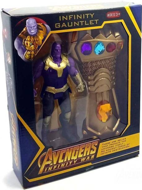 Wishkart Avengers Thanos Titan Hero Action Figure 6.5 Inch with Thanos Guantlet
