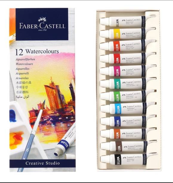 FABER-CASTELL Creative Studio 5ml Water Colour Tube - 12 Shades