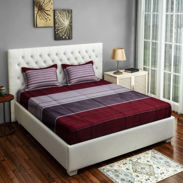 SWAYAM 200 TC Cotton Double Self Design Bedsheet