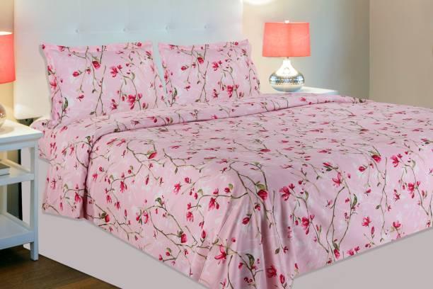 haus & kinder 186 TC Cotton Double Floral Bedsheet