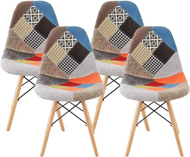 Urbancart Set Of 4 Stylish & Modern Furniture Patches Chair with Cushion for Cafeteria Seating/Dining Metal Living Room Chair