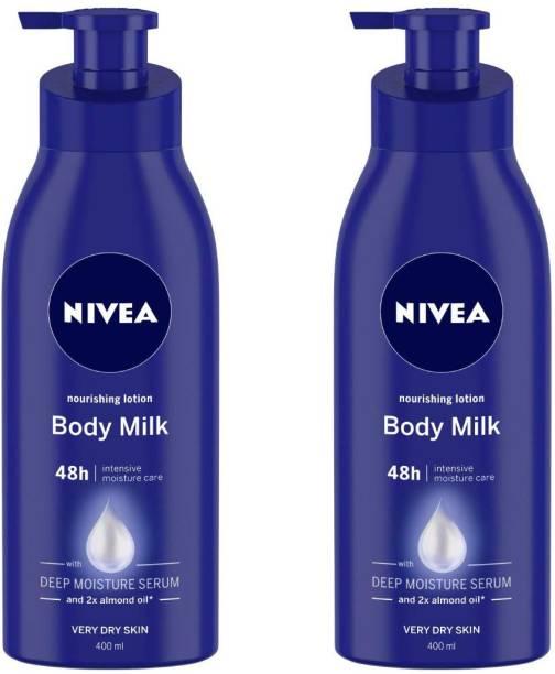 NIVEA Body Milk Nourishing Lotion (400 ml) SET OF 2