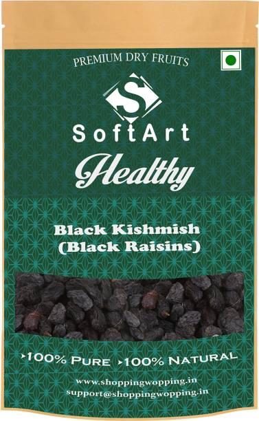 Soft Art Healthy (Black Kishmish) Black Raisins