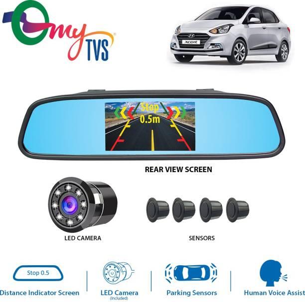 MYTVS Video Reverse Parking Sensor,Digital Rear View Mirror Screen and Camera with Nearest Object Distance Voice Alert Reverse Parking Parking Sensor
