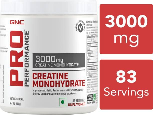 GNC Pro Performance Creatine Monohydrate 3000 mg (250gm) (Unflavored) Creatine